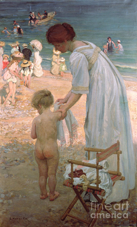 Bathing Painting - The Bathing Hour  by Emmanuel Phillips Fox