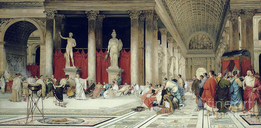 Crowd Painting - The Baths Of Caracalla by Virgilio Mattoni de la Fuente