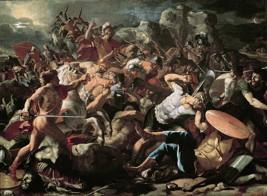 The Painting - The Battle by Nicolas Poussin