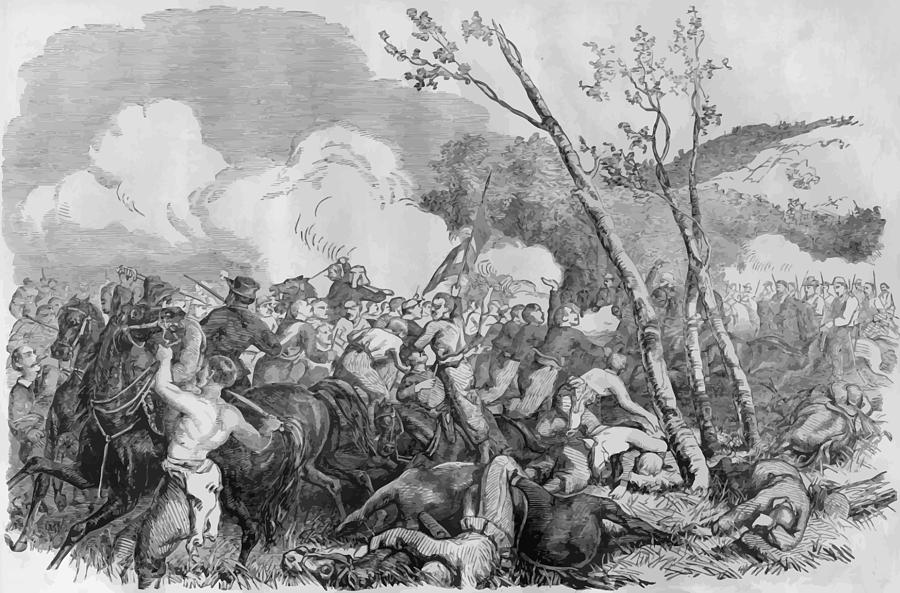 Bull Run Painting - The Battle Of Bull Run by War Is Hell Store