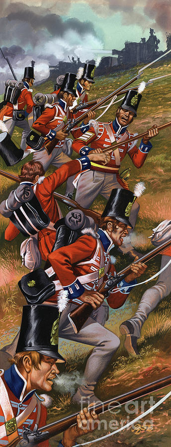 History Painting - The Battle Of Corunna by Ron Embleton