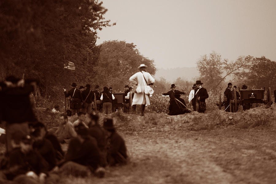 Civil War Photograph - The Battle Of Franklin by Mark Currier