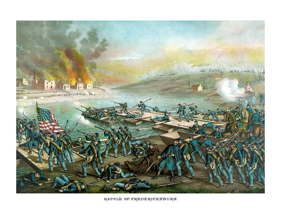Civil War Painting - The Battle of Fredericksburg by War Is Hell Store
