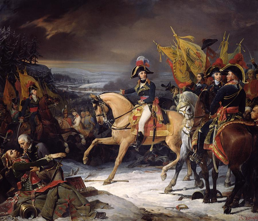 The Painting - The Battle Of Hohenlinden by Henri Frederic Schopin