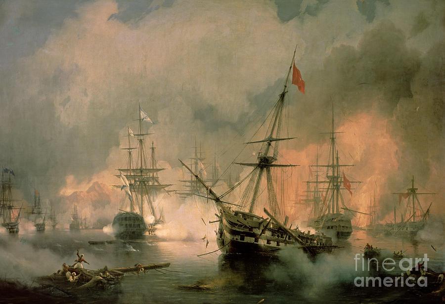 The Painting - The Battle Of Navarino by Ivan Konstantinovich Aivazovsky