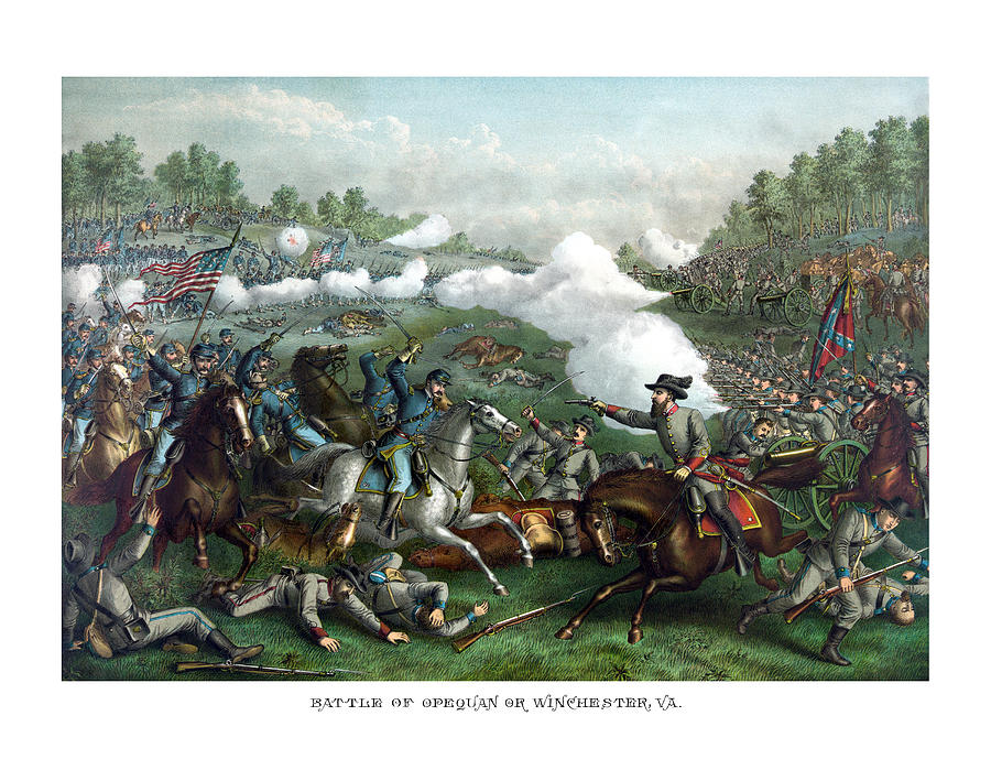 Civil War Painting - The Battle Of Winchester by War Is Hell Store