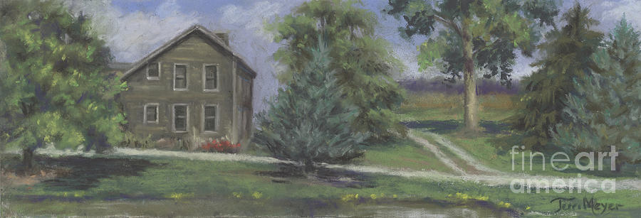 Ohio Landscape Painting - The Bauer Farm by Terri  Meyer