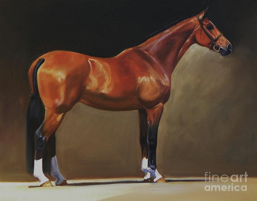 Bay Painting - The Bay Hunter by Janet  Crawford
