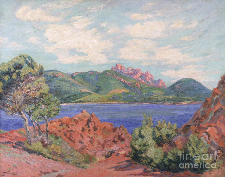 The Painting - The Bay Of Agay by Jean Baptiste Armand Guillaumin