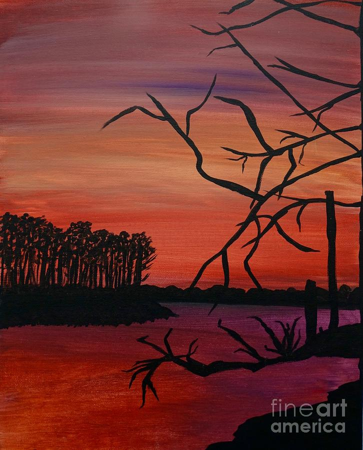The Bayou - Acrylic Painting