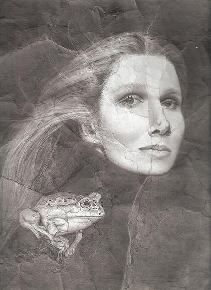 Portrait Drawing - The Be-witched by Linda Mason