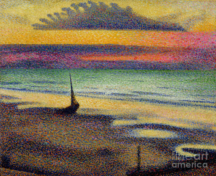The Painting - The Beach At Heist by Georges Lemmen
