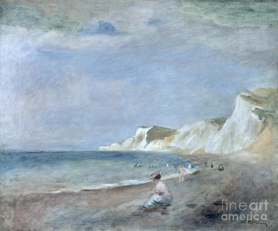 The Painting - The Beach At Varangeville by Renoir