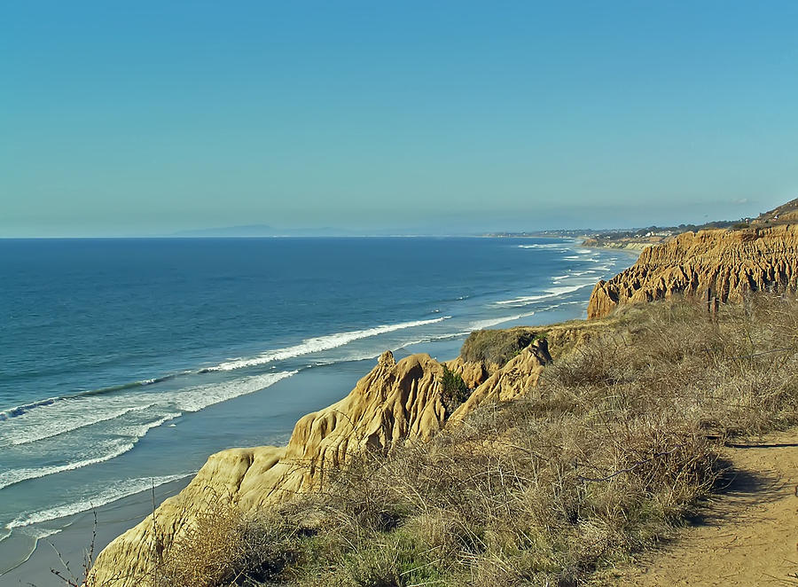 The Beach From Torrey Pines Photograph by Chuck Cannova