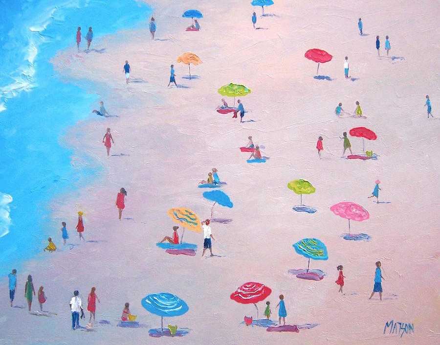 Beach Painting - The Beach by Jan Matson