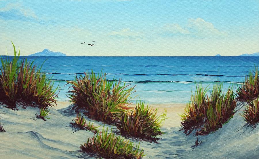 Acrylic Painting - The Beach by Nolan Clark