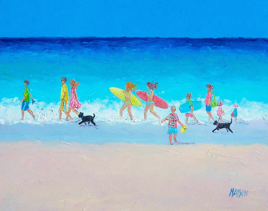 Beach Painting - The Beach Parade by Jan Matson