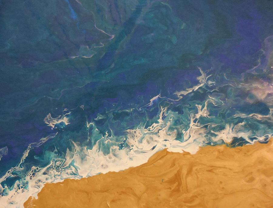 Acrylic On Canvas Mixed Media - The Beach - Tac by Darin Black