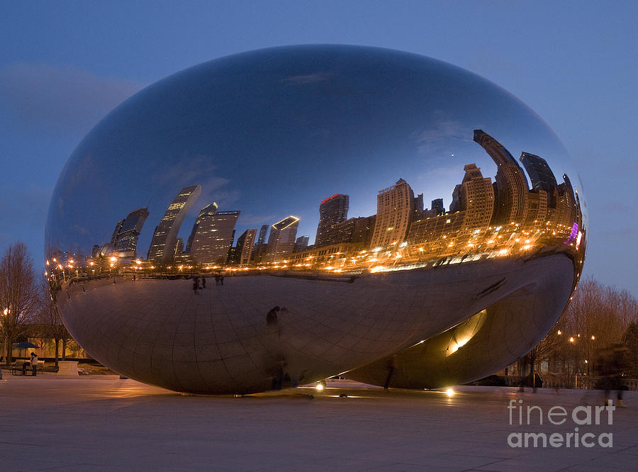 Reflection Photograph - The Bean - Millenium Park - Chicago by Jim Wright