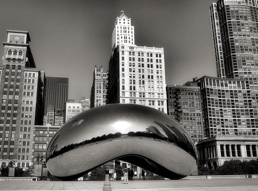 Chicago Architecture Photograph - The Bean - 3 by Ely Arsha