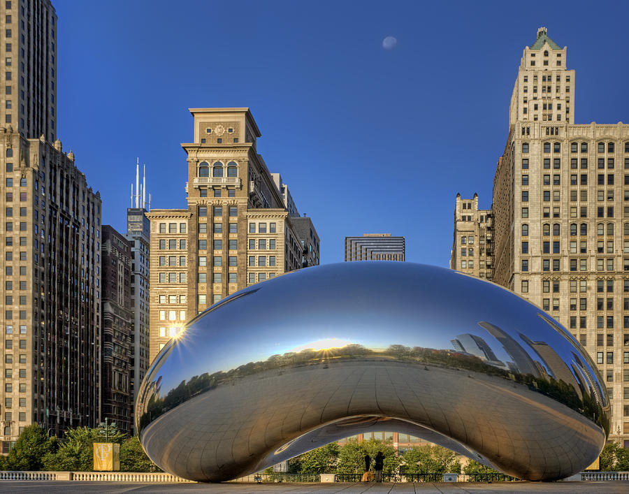 Cloud Gate Photograph - The Bean - Millennium Park - Chicago by Nikolyn McDonald