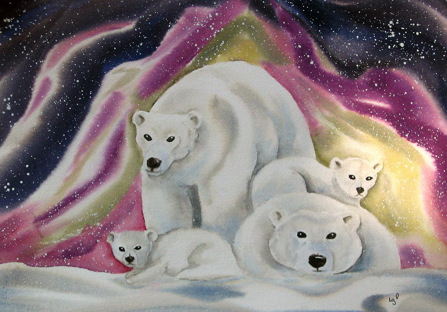 The Bear Family Painting by Amelie Gates