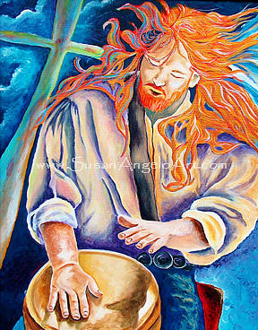 Drums Painting - The Beat Goes On by Susan-Angelo  DeBay