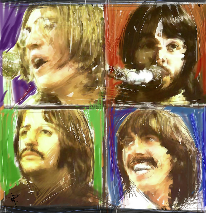 The Beatles Digital Art - The Beatles - Let It Be by Russell Pierce