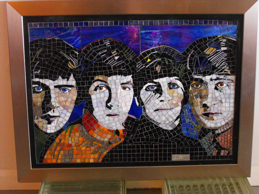 The Beatles Painting - The Beatles-2008 by Maria Carrasco