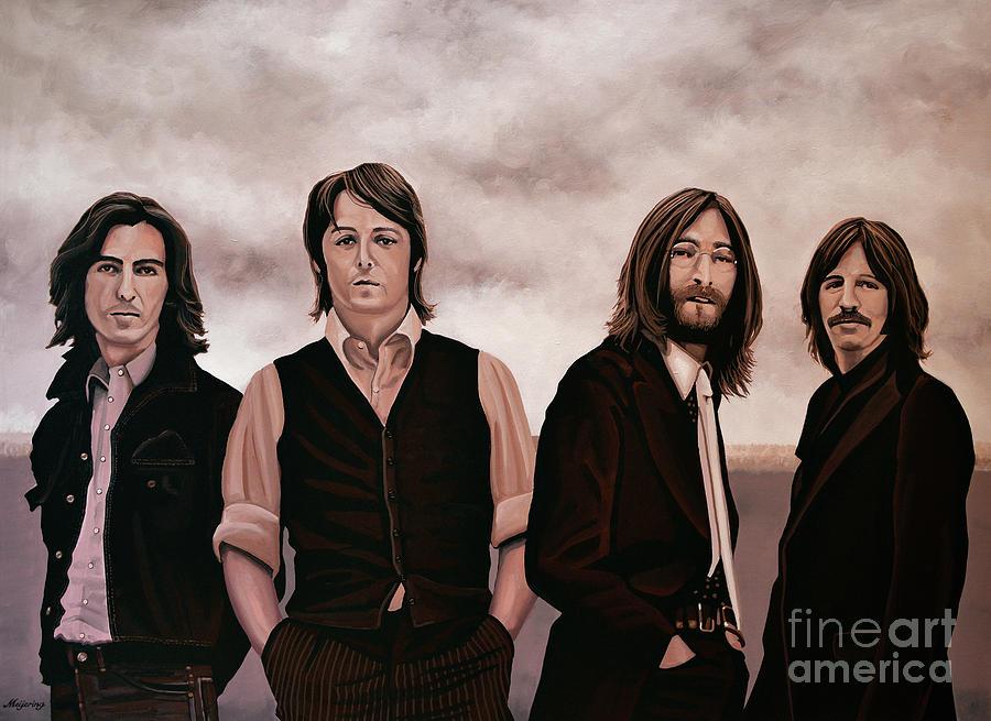 The Beatles Painting - The Beatles 3 by Paul Meijering