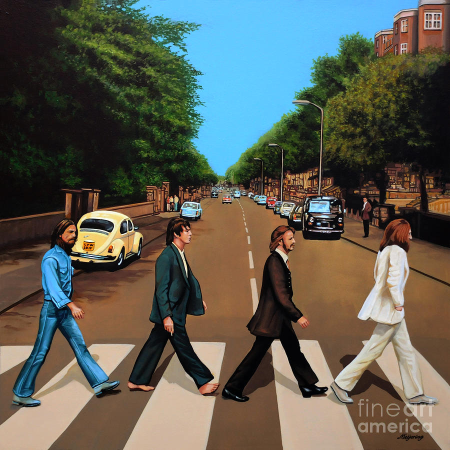 The Beatles Abbey Road Painting By Paul Meijering