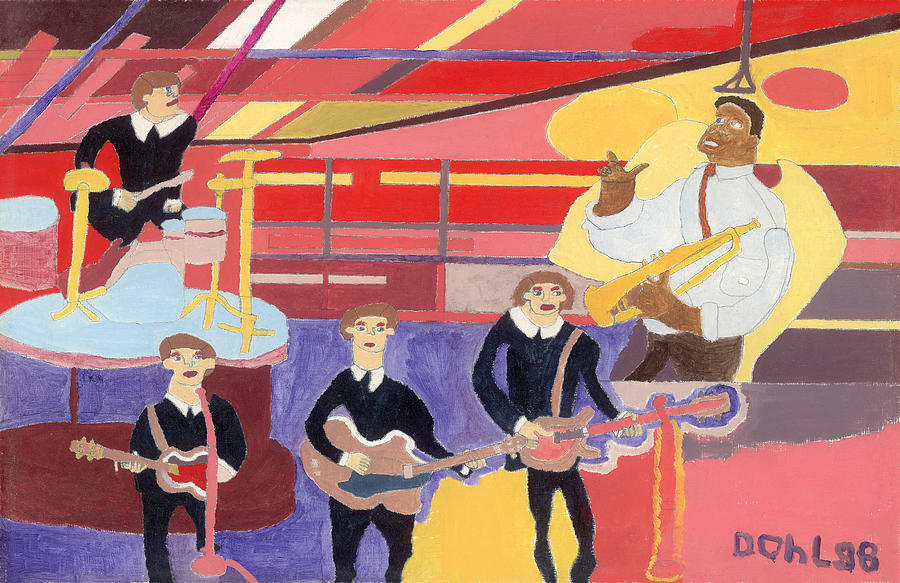 The Beatles And Louis Armstrong Painting by Don Larison
