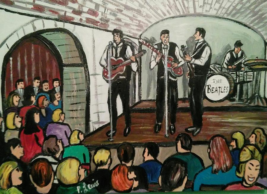 The Beatles At The Cavern Club Liverpool Painting by Phil Lewis