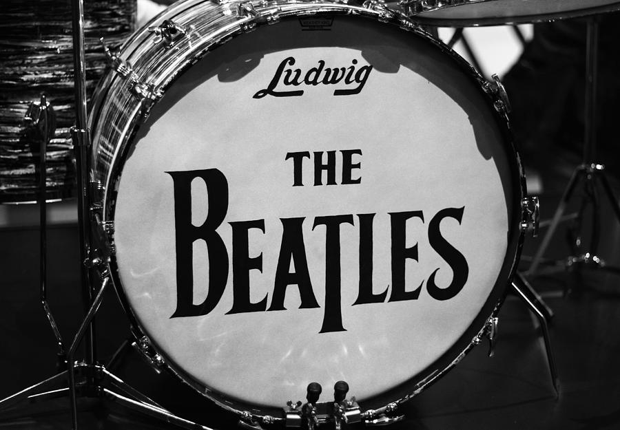 Drums Photograph - The Beatles Drum by Dan Sproul