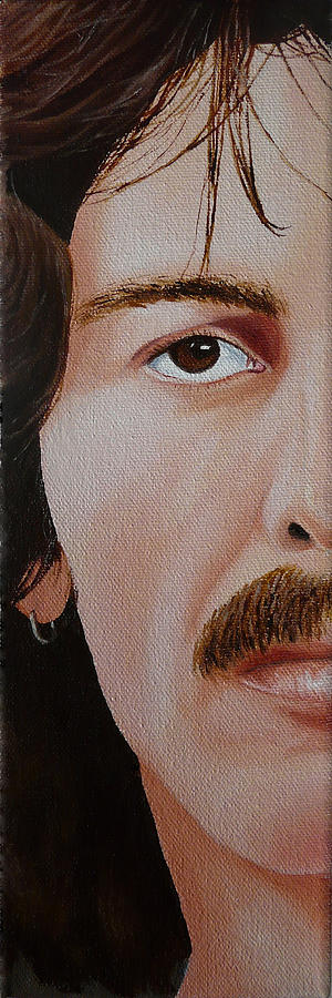 The Beatles Painting - The Beatles George Harrison by Vic Ritchey