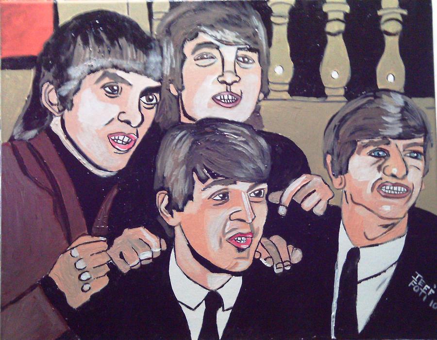 The Beatles Painting by Jeffrey Foti
