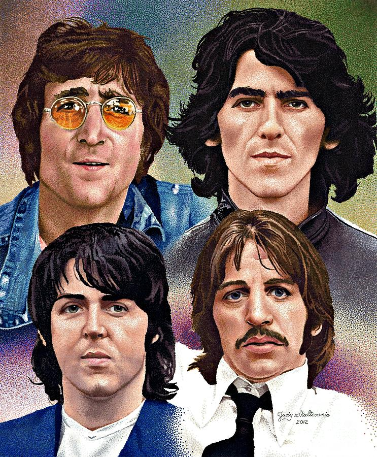 The Beatles Drawing By Judy Skaltsounis