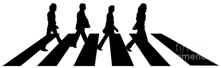 The Beatles Digital Art - The Beatles No.02 by Geek N Rock