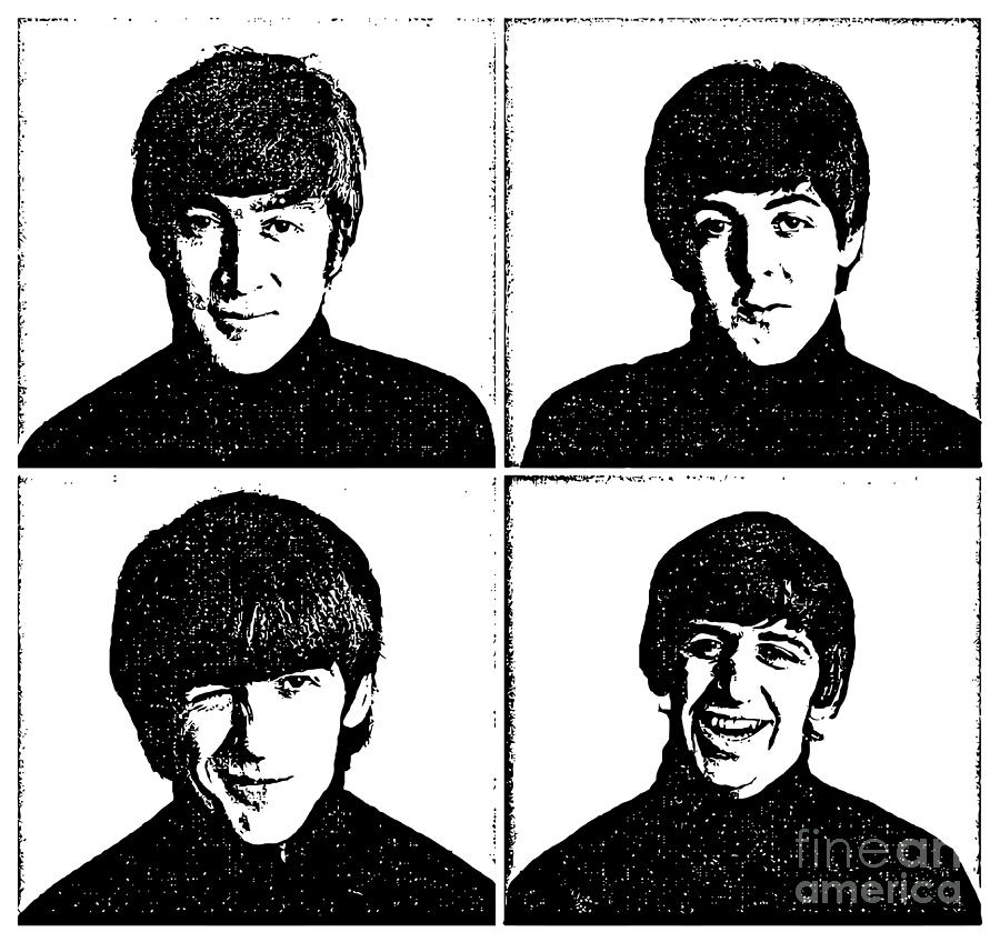 The Beatles Digital Art - The Beatles No.13 by Caio Caldas