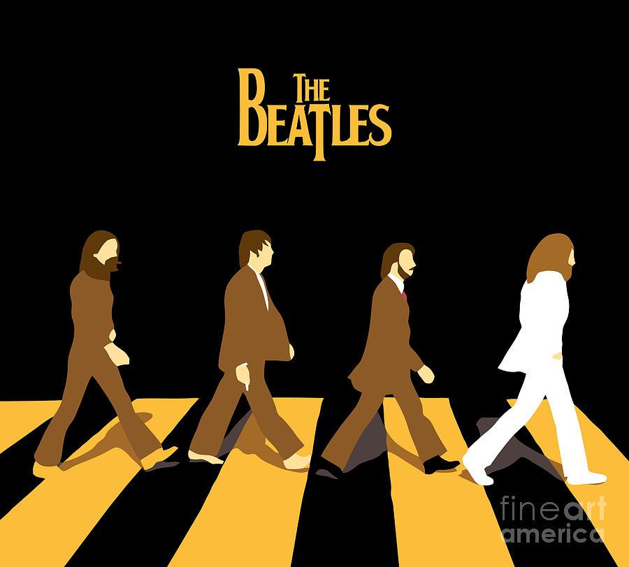 The Beatles Digital Art - The Beatles No.19 by Caio Caldas