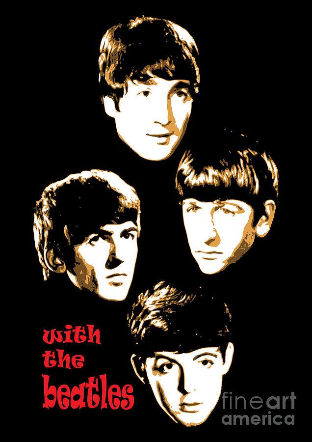 The Beatles Digital Art - The Beatles No.20 by Caio Caldas