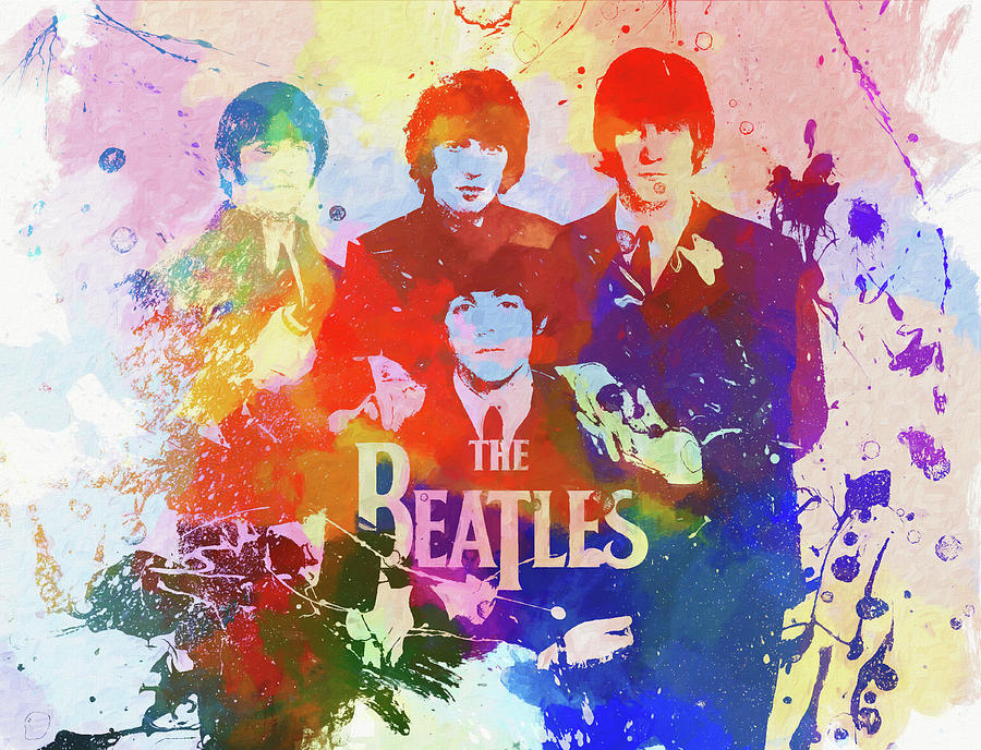 The Beatles Paint Splatter Painting