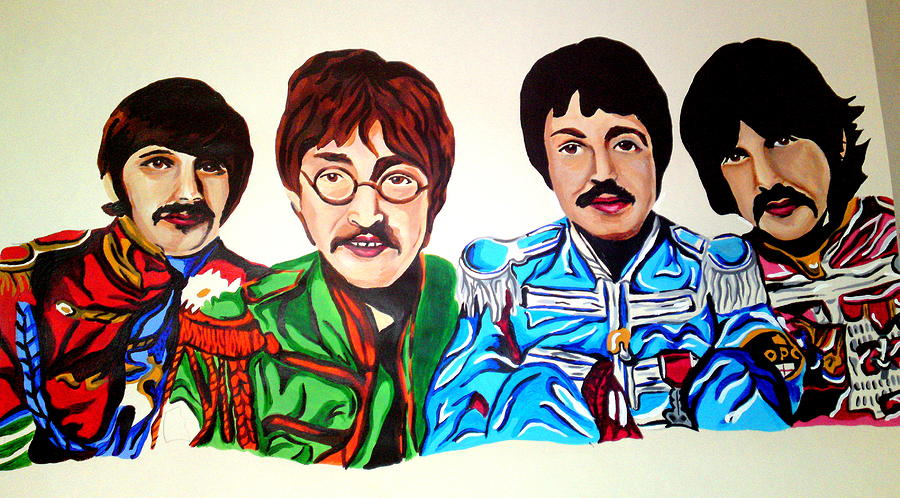 The Beatles  Painting by Pauline Murphy