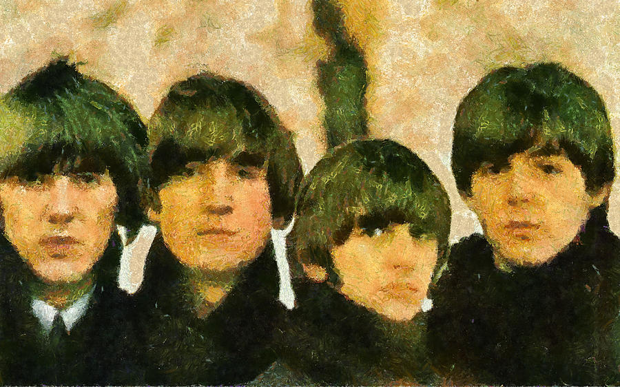 The Beatles Digital Art - The Beatles by Galeria Zullian  Trompiz