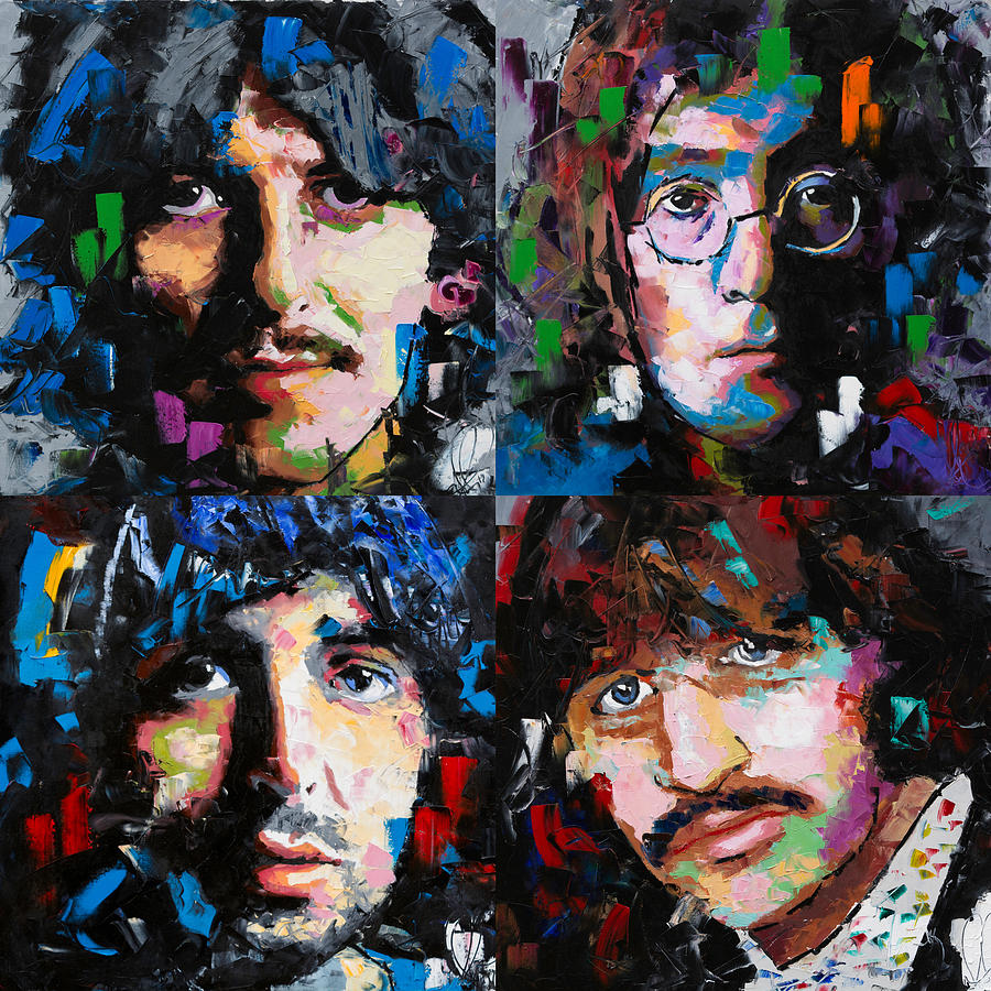 The Beatles Painting - The Beatles by Richard Day