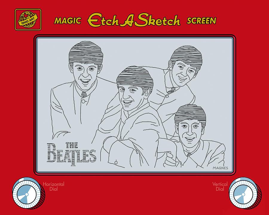 Beatles Digital Art - The Beatles by Ron Magnes