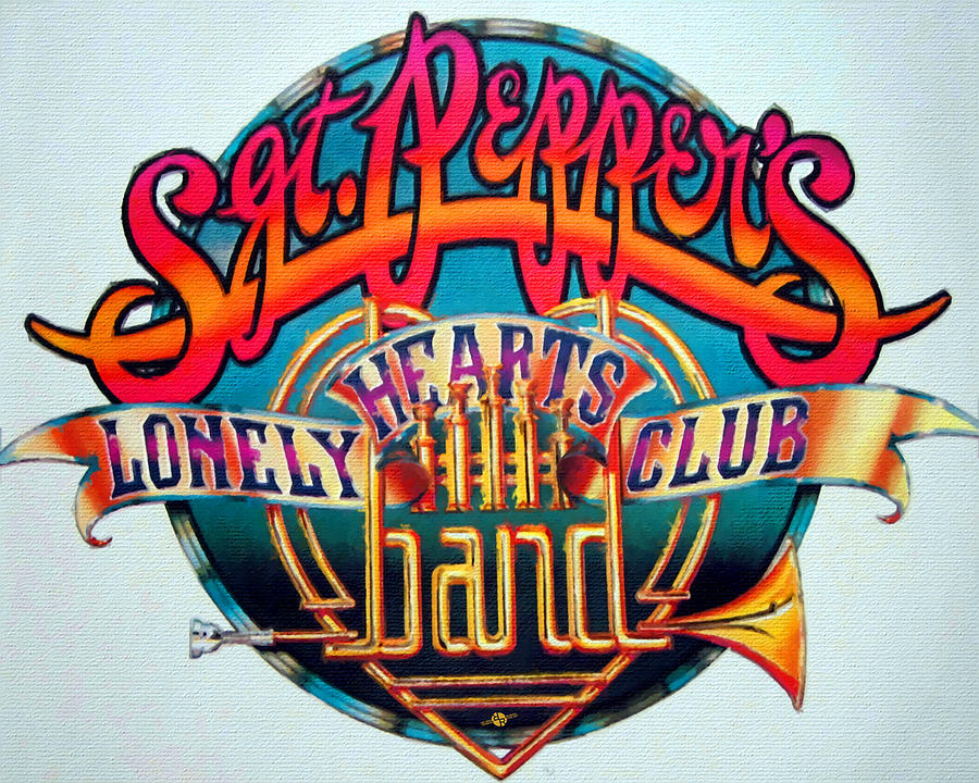 The Beatles Sgt Peppers Lonely Hearts Club Band Logo Painting 1967