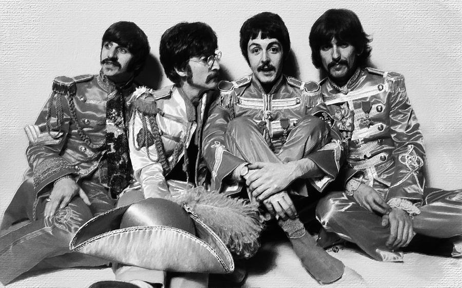 The Beatles Black And White Pictures
