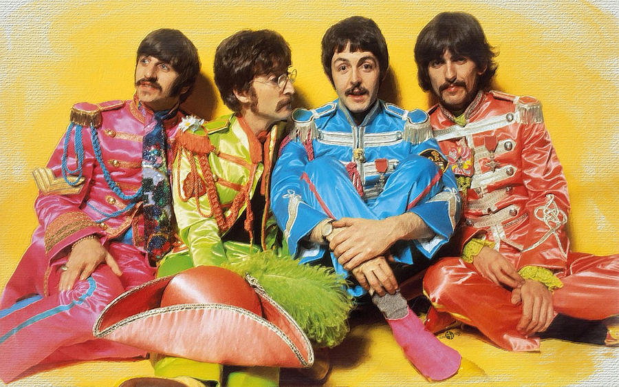 The Beatles Painting - The Beatles Sgt. Peppers Lonely Hearts Club Band Painting 1967 Color by Tony Rubino
