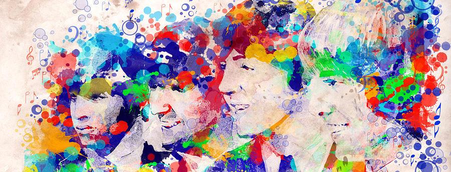 Beatles Painting - The Beatles Tb by Bekim M